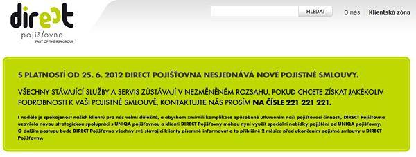 Direct pojišťovna v Česku končí