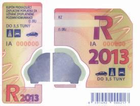 Dálniční známka 2013